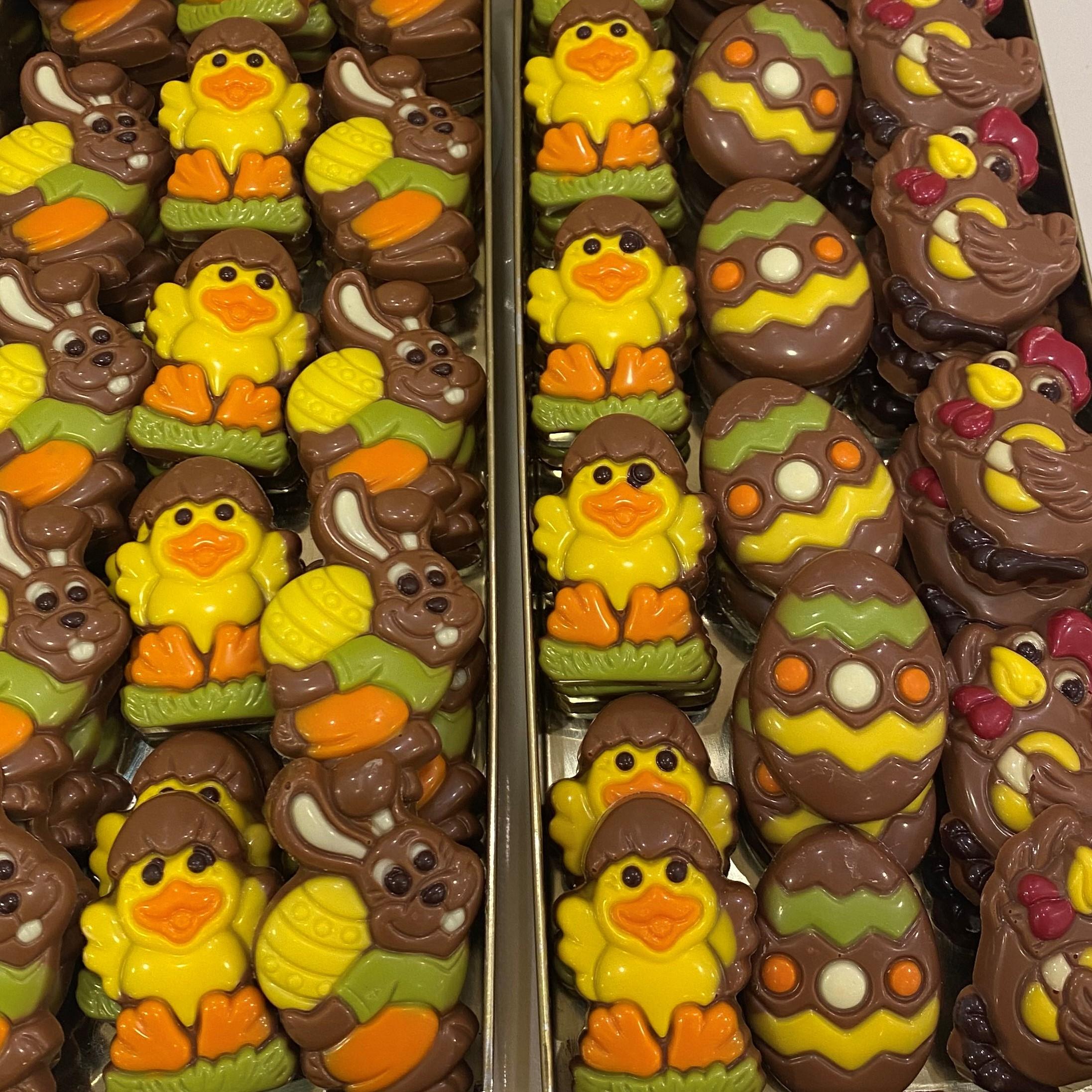 Figurinhas de Páscoa - Chocolate de Leite